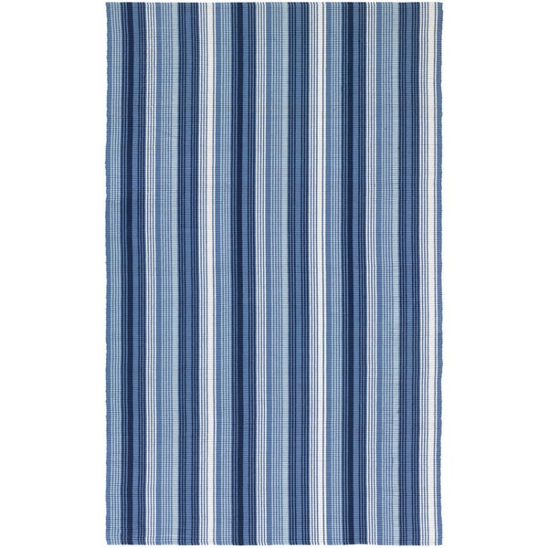 Hand-Woven Maine Stay Freeport Blueberry Crush Cotton Rug (8' x 10')
