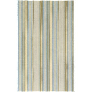 Hand-Woven Maine Stay Freeport Gelato Cotton Rug (3' x 5')