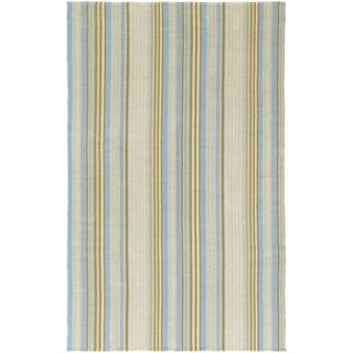 Hand-Woven Maine Stay Freeport Gelato Cotton Rug (5' x 8')