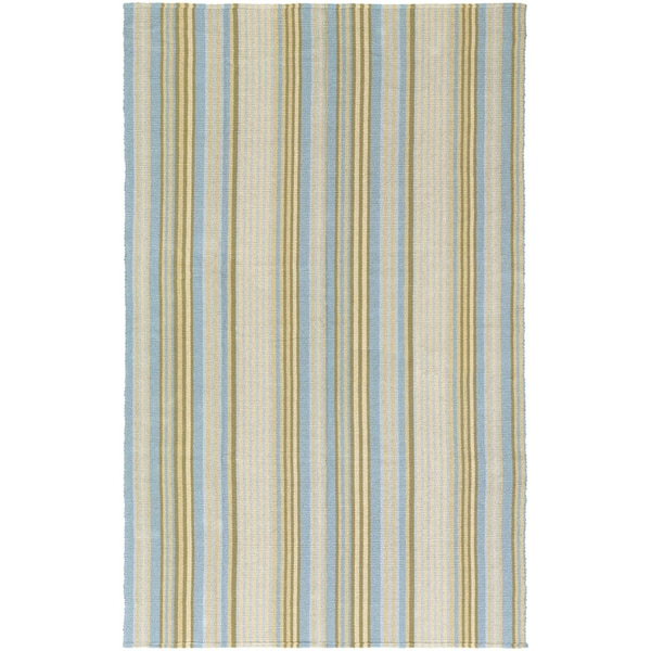 Hand-Woven Maine Stay Freeport Gelato Cotton Rug (8' x 10')