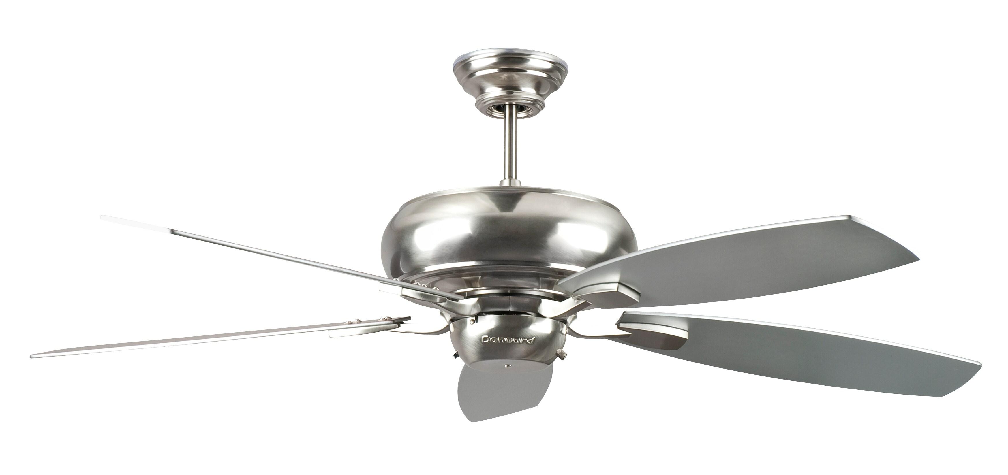 52 Inch Stainless Steel Five Blade Ceiling Fan Free