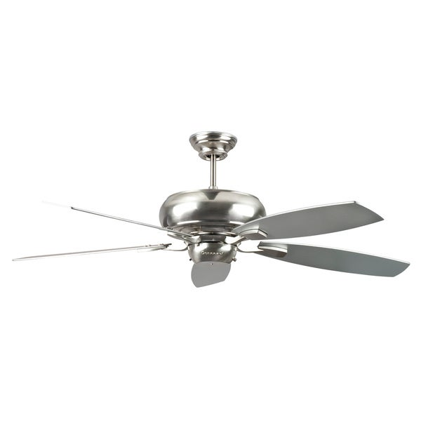 52-Inch Five-Blade Satin Nickel Ceiling Fan
