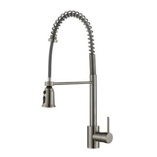 Ruvati Stainless Steel Commercial Style Pullout Spray Kitchen Faucet