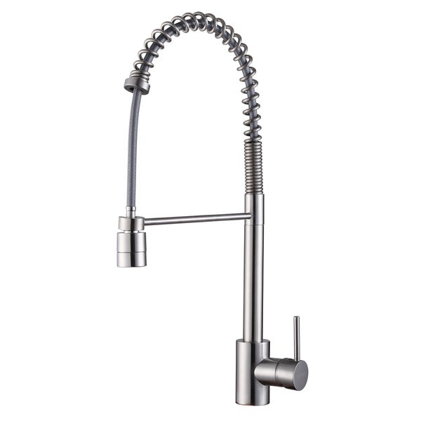 Ruvati RVF1210ST Commercial Style Pullout Spray Stainless Steel Kitchen Faucet