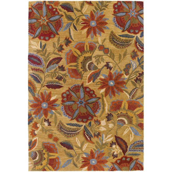 Botanique Layla/ Gold Wool Rug (9' x 12')