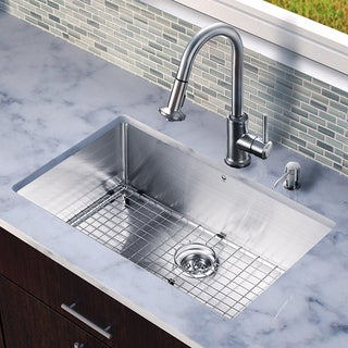 VIGO All-in-one 32-inch Undermount Steel Sink and Faucet Set