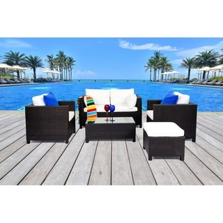 Wicker Furniture Lounge Lugano Outdoor Sofa Set by Velago