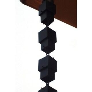 Monarch Alum Black Multi-Cube 8.5-Foot Rain Chain Inclusive of Installation Hanger