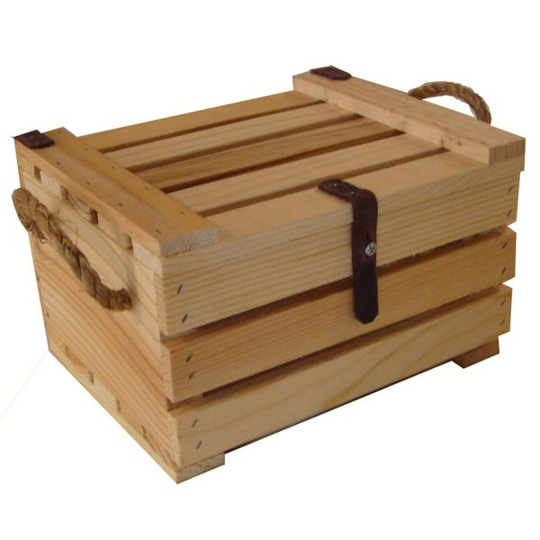 Small Wooden Covered Crate
