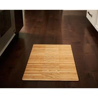 "Jani Oolong Natural Brown Bamboo Striped Mat - 1'8"" x 2'8"""