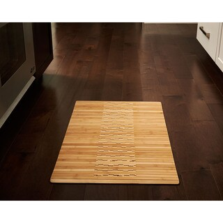 Jani Oolong Natural Brown Bamboo Striped Mat (20 in. x 32 in.) - 1'8 x 2'8