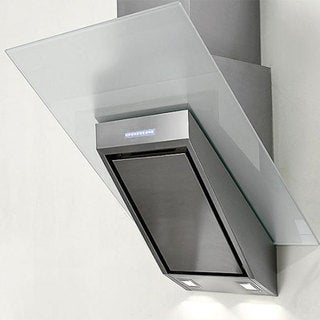 NT AIR Stainless Steel White Glass 24-inch Range Hood KA-146-WTG