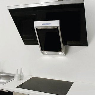 NT AIR Stainless Steel Black Glass 36-inch Range Hood KA-146-BLG