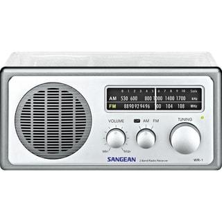 Sangean Analog AM / FM Clear Table - Top Radio - Clear