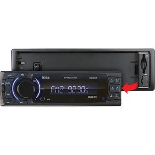 Boss Audio 622UA Single-DIN MECH-LESS Receiver, Detachable Front Pane