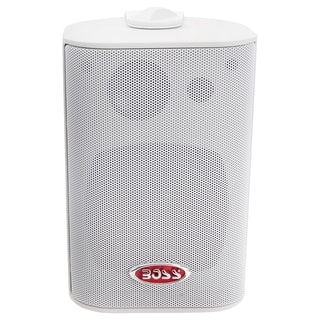 "BOSS AUDIO MR4.3W Marine Enclosed System 4"" 3-way 200-watt Enclosed S"