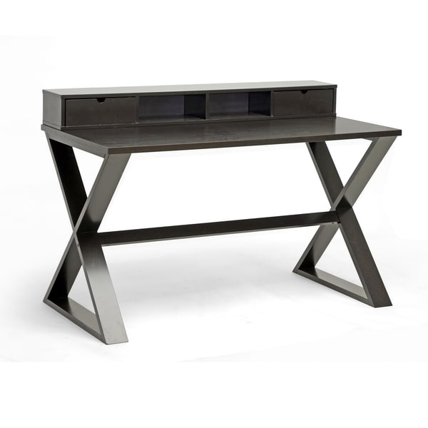 Baxton Studio Fargo Dark Brown Modern Writing Desk