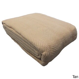 Elegant Egyptian Cotton Blanket (Option: Full/Queen - Tan)