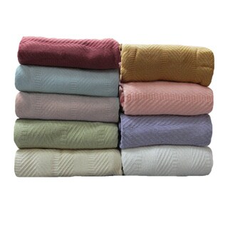 Elegant Egyptian Cotton Blanket (4 options available)