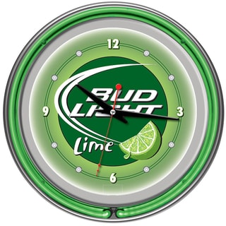 Bud Light Lime 14-inch Neon Wall Clock