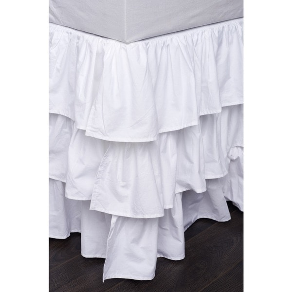 French Ruffle 18 Inch Drop Bedskirt Free Shipping Today Overstock Com 15130085