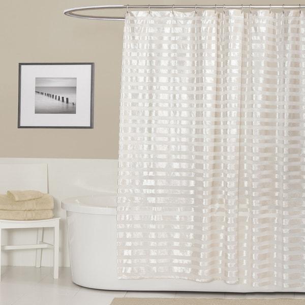 Lush Decor Royal Tide Ivory Shower Curtain