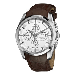Tissot Couturier Men's Swiss Automatic Leather Strap Watch