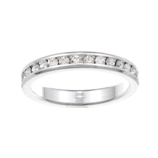 City by City City Style Silvertone Clear Cubic Zirconia Eternity Band