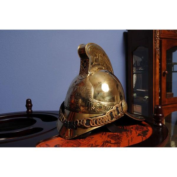 Old Modern Handicrafts Victorian Fireman Helmet