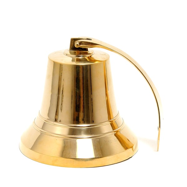 Old Modern Handicrafts 10-Inch Brass Ship Bell