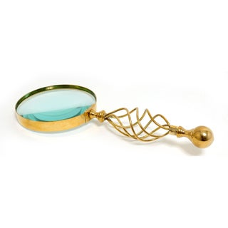Old Modern Handicrafts 5-Inch Magnifying Glass with Wooden Case