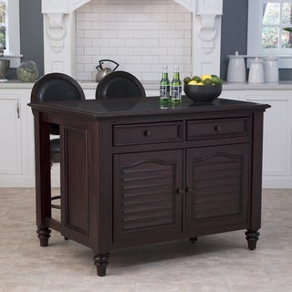 Bermuda Kitchen Island and Two Stools by Home Styles