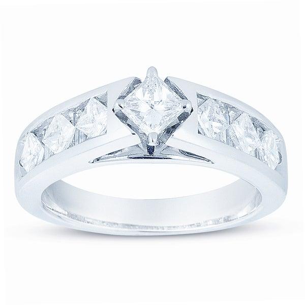 14k White Gold 1 3/8ct TDW Diamond Engagement Ring (H-I, I1-I2)