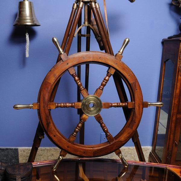Old Modern Handicrafts 30-Inch Display Ship Wheel
