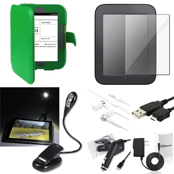 BasAcc Case/ Screen Protector/ LED/ Charger for Barnes & Noble Nook 2