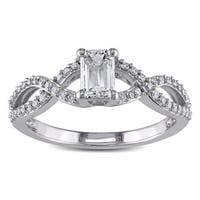 Miadora Signature Collection 14k White Gold 4/5ct TDW Certified Diamond Ring