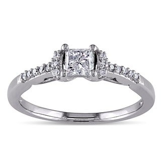Miadora Signature Collection 10k White Gold 1/2ct TDW Diamond Engagement Ring