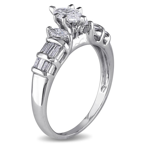 Miadora Signature Collection 14k White Gold 1ct TDW Marquise Diamond Ring (G-H, I1-I2)