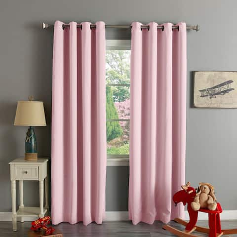Aurora Home Grommet-top Thermal Insulated 120-inch Blackout Curtain Panel Pair - 52 x 120 - 52 x 120