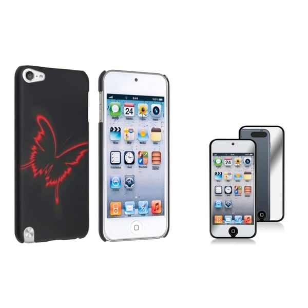 Insten iPod Case Cover/ Mirror Screen Protector for Apple iPod touch Generation 5th/ 6th