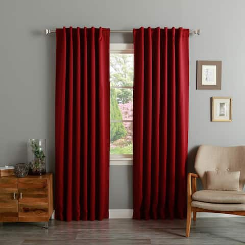 Aurora Home Solid Insulated Thermal Blackout 120-inch Curtain Panel Pair - 52 x 120