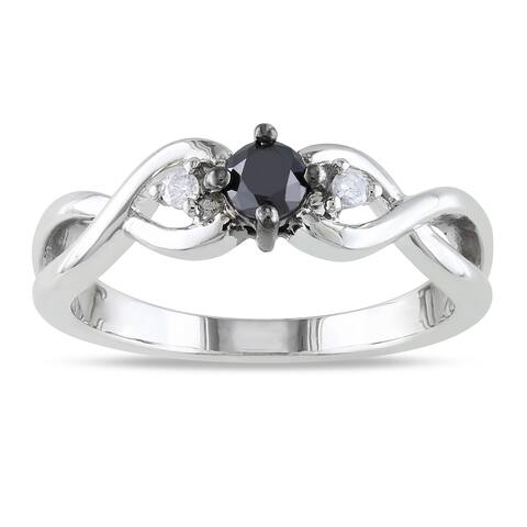 fe4d140fb0ac7 Buy Sterling Silver, Black Diamond Rings Online at Overstock   Our ...