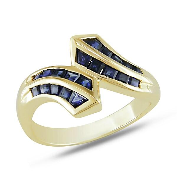Miadora 14k Yellow Gold Sapphire Ring