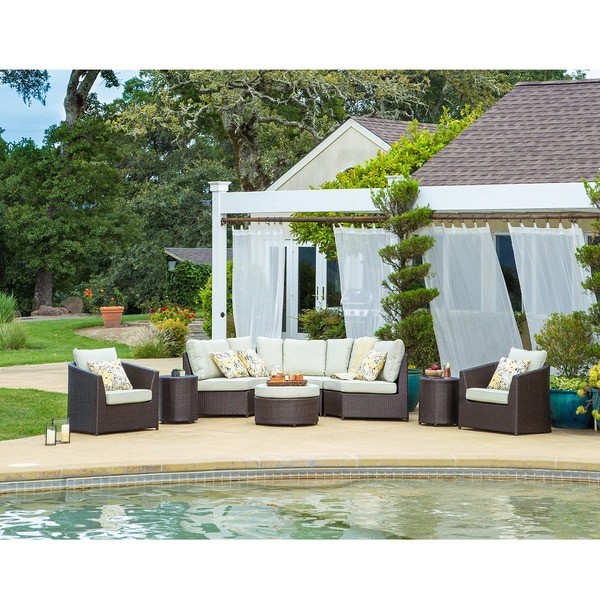 Awesome Corvus Melrose 8 Piece Brown Wicker Patio Furniture Set