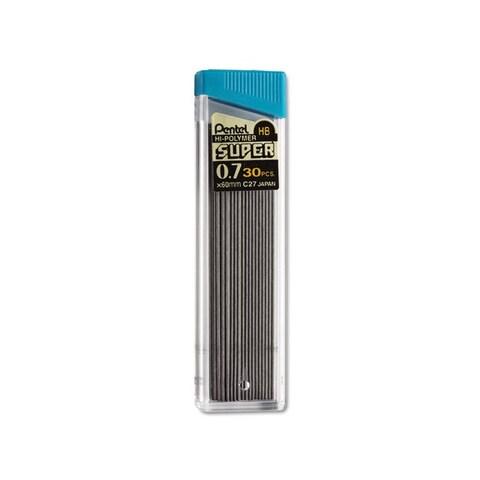 Super Hi-Polymer 0.7mm HB Black Lead Refills (Tube of 30)