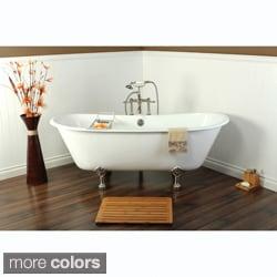 67-inch Cast Iron Double Slipper Clawfoot Bathtub