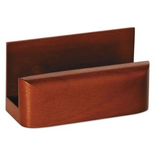 Rolodex Wood Tone Mahogany Business Card Holder