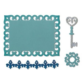 Sizzix Thinlits Die-Border, Label, Medallion & Key