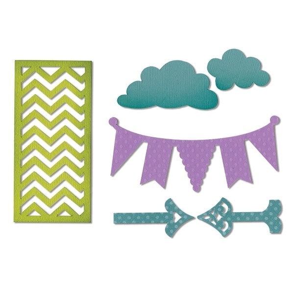 Sizzix Thinlits Die-Arrows, Banners, Chevrons, Clouds