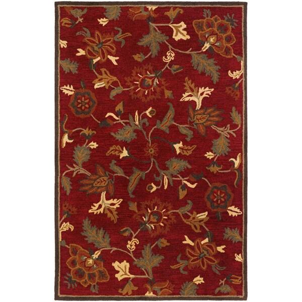 Botanique Morgan/ Crimson Area Rug (9' x 12')